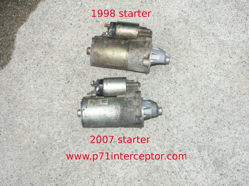 medium resolution of starting in the 2006 model year ford introduced a new starter motor model 6w1t 11000 aa this starter is nearly identical to the earlier f75u 11000 ac
