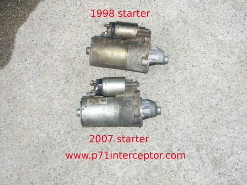 small resolution of starting in the 2006 model year ford introduced a new starter motor model 6w1t 11000 aa this starter is nearly identical to the earlier f75u 11000 ac