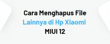 Cara Menghapus File Lainnya di Hp Xiaomi MIUI 12