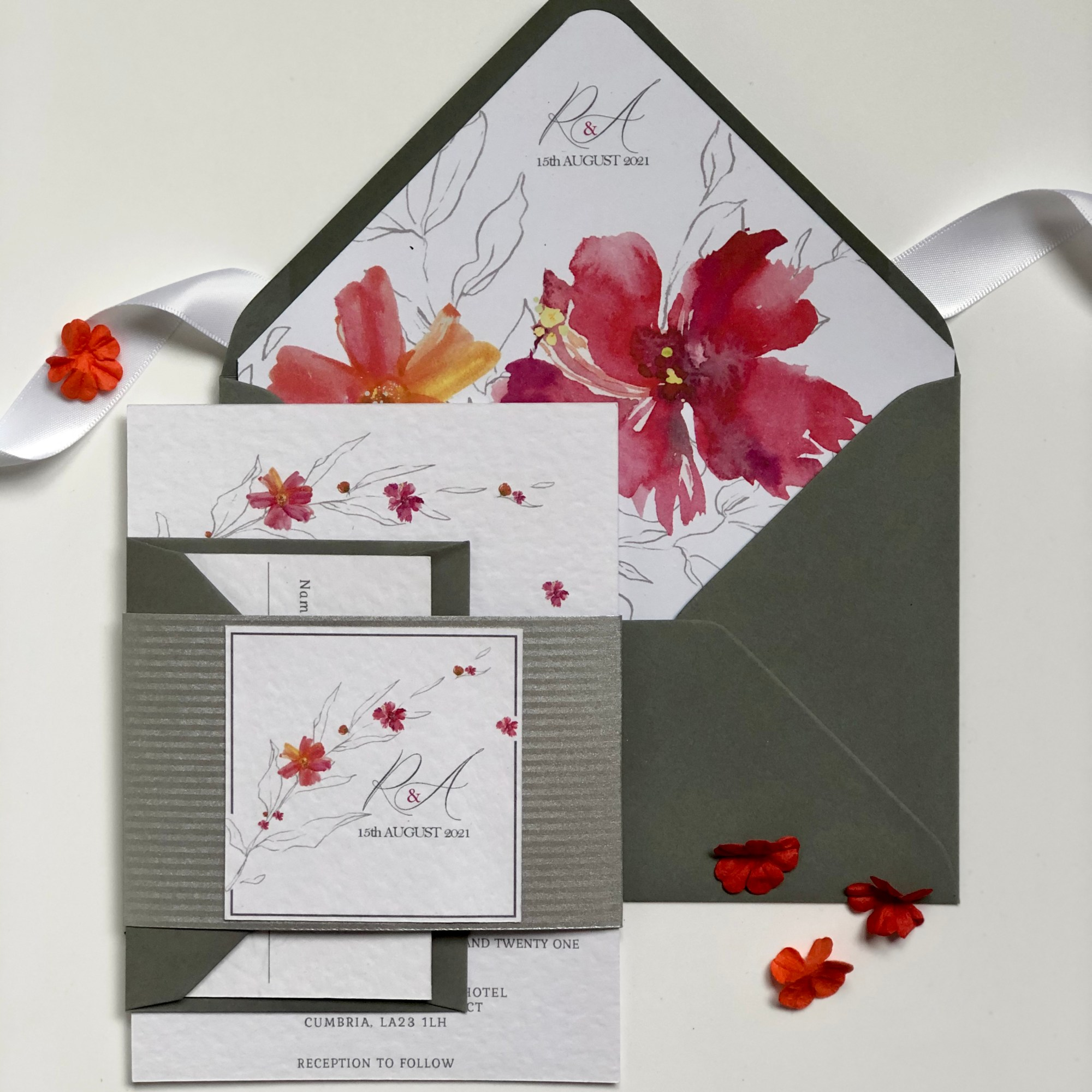 Glorious Flora Wedding Invitation