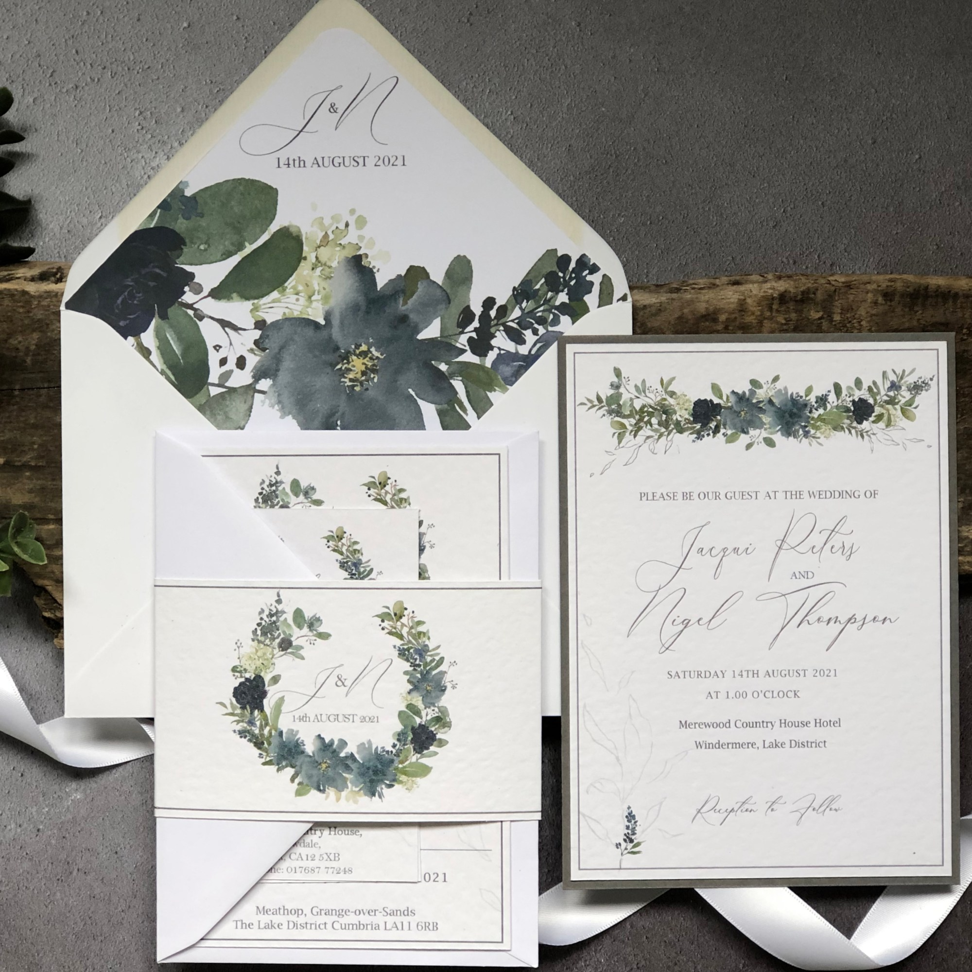 Azura Blue Wedding Invitation