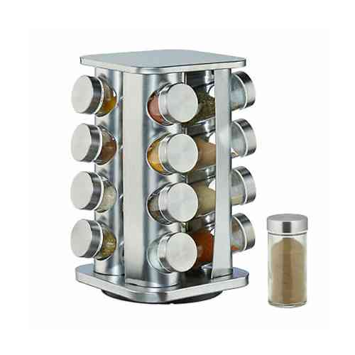 stainless steel spice rack 16pcs
