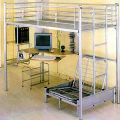 Loft Bed With Desk And Futon Chair Steel In Bangalore Computer Station Twin Beds Keyboard Drawer @ Idollarstore.com