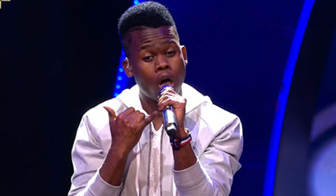 Botlhale Phora Performing One Call Away by Charlie Puth