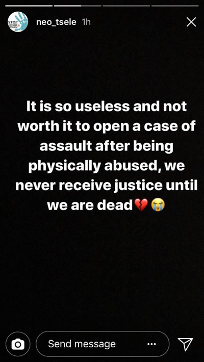 Mthokozisi Ndaba's Assault Victim Neo Tsele