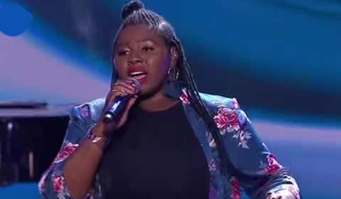 Bongiwe Mdaka performing Beneath Your Beautiful By Emeli Sande