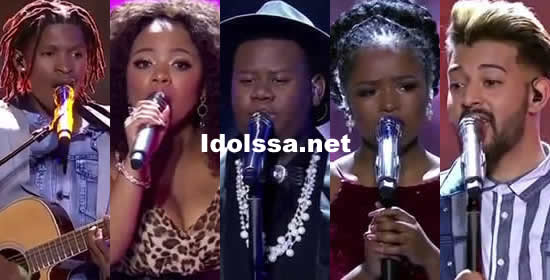 Idols SA 2018 Season 14 Top 5 Contestants Song Choices