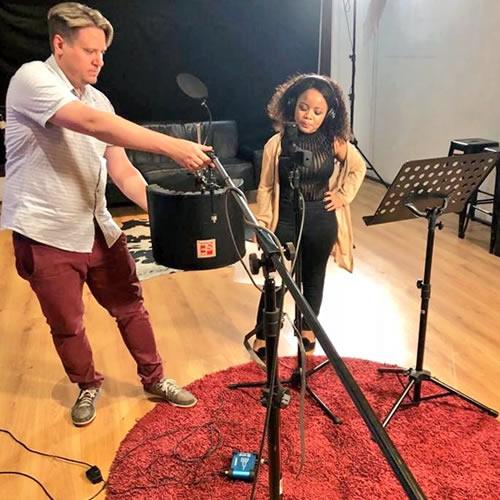 Idols SA 2018 Season 14 Thando Mngomezulu Debut Single Recording Session