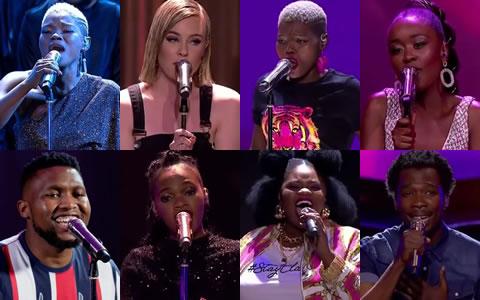 Idols SA 2019 Top 8 Contestants