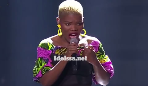 Idols SA 2019 Top 17 Contestant Viggy Qwabe Performing Mgodi By Zahara