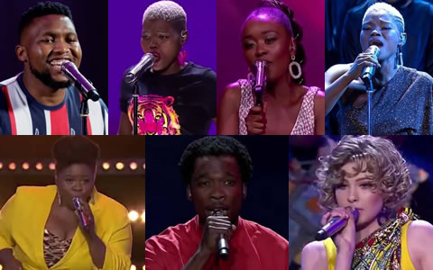 Idols SA 2019 Top 7 Contestants, Nolo, Viggy, Mmangaliso, Virginia, Sneziey, Luyolo, Micayla