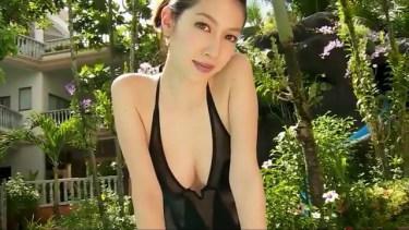 【小林恵美】Fカップ9 綺麗なお姉さん×美白美肌×黒水着