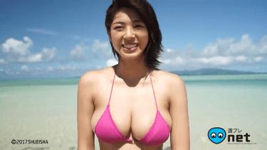 【わちみなみ】Hカップ3 現役女子大生アイドルの眩しいビキニ姿