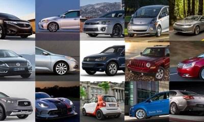 15 vehículos que serán descontinuados en 2018