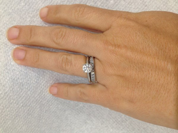 Beautiful Solitaire 1.05 Carat Diamond Engagement Ring In Tiffany Platinum Setting With