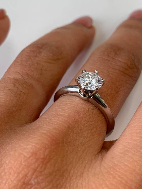 Tiffany & Solitaire 1.01 Ct Engagement Ring In Platinum