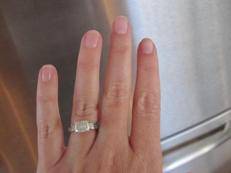 Radiant Cut 15 Ct Center Stone Engagement Ring In