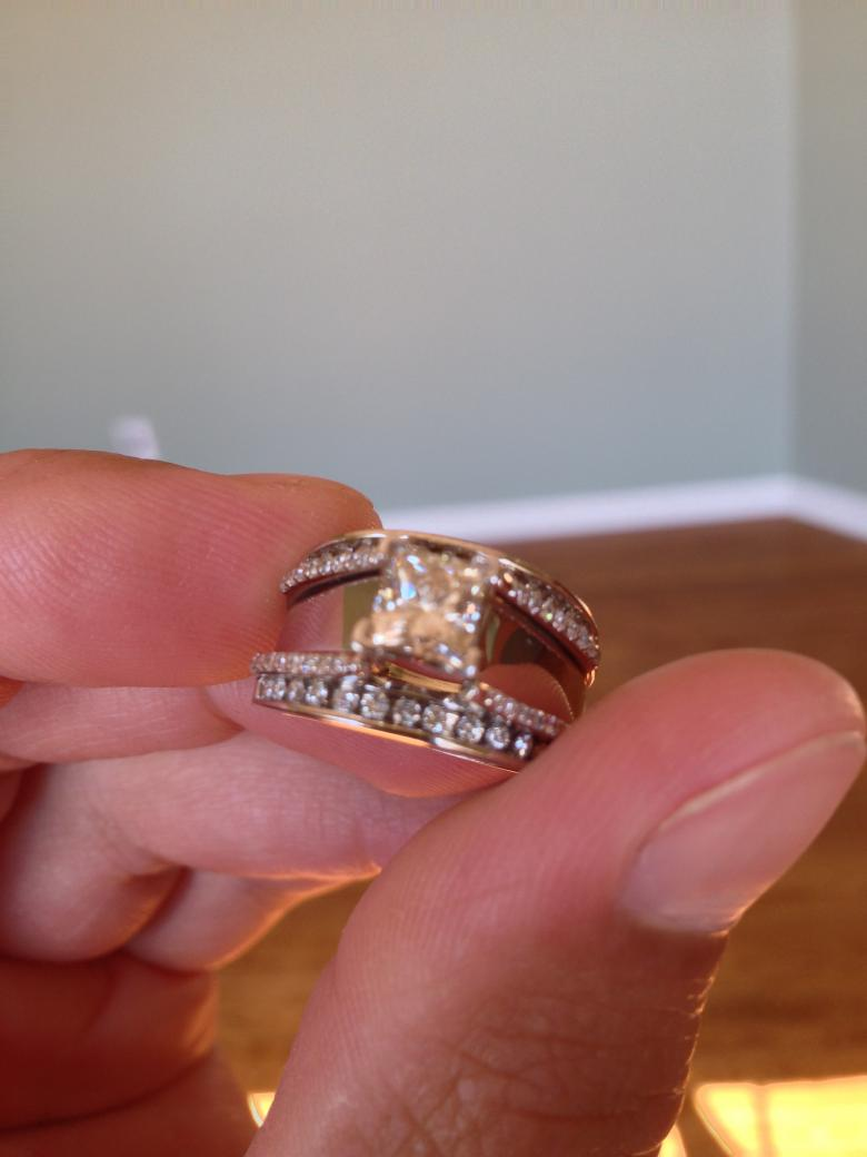 1 CT Princess Cut Leo Diamond Wedding Set With Diamond