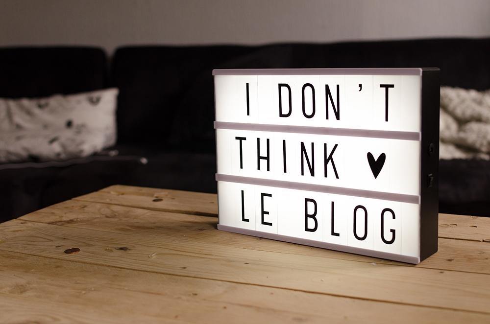 i don't think le blog