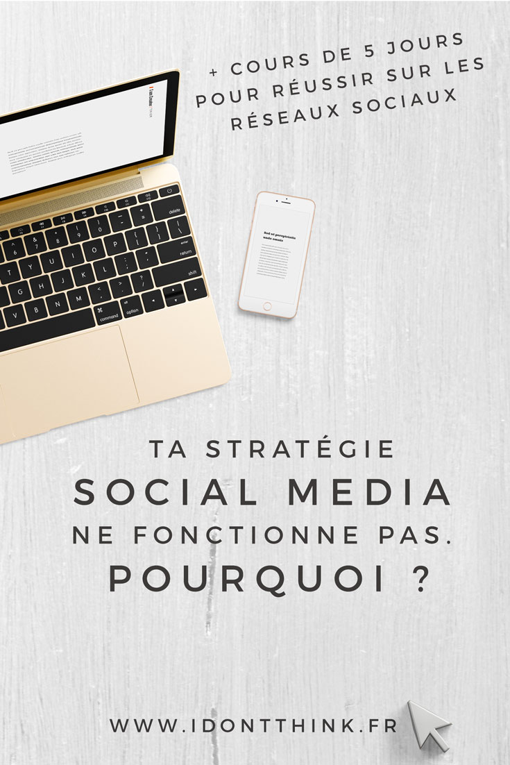 Réussir ta stratégie sur les réseaux sociaux