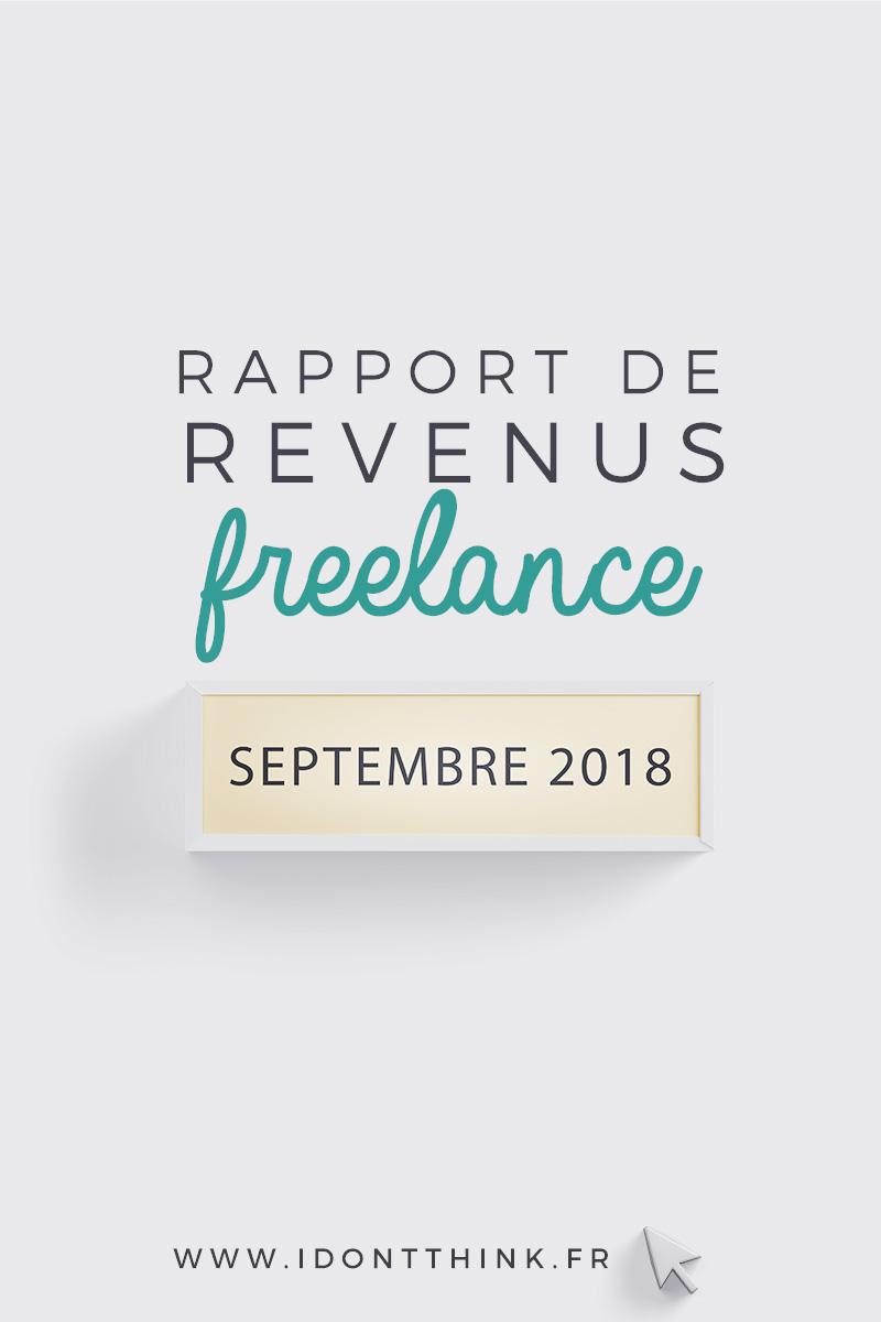 Rapport de revenus Freelance : Septembre 2018