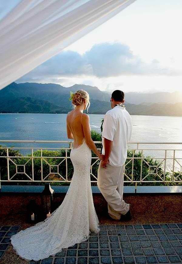destination wedding on the water