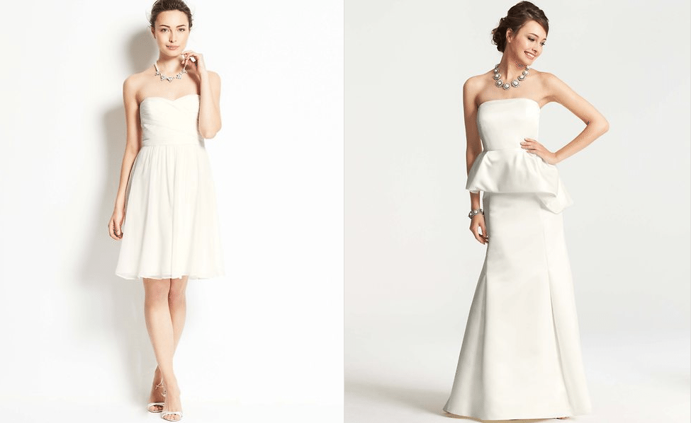 Ann Taylor Collection. Perfect for Second Wedding Dresses.