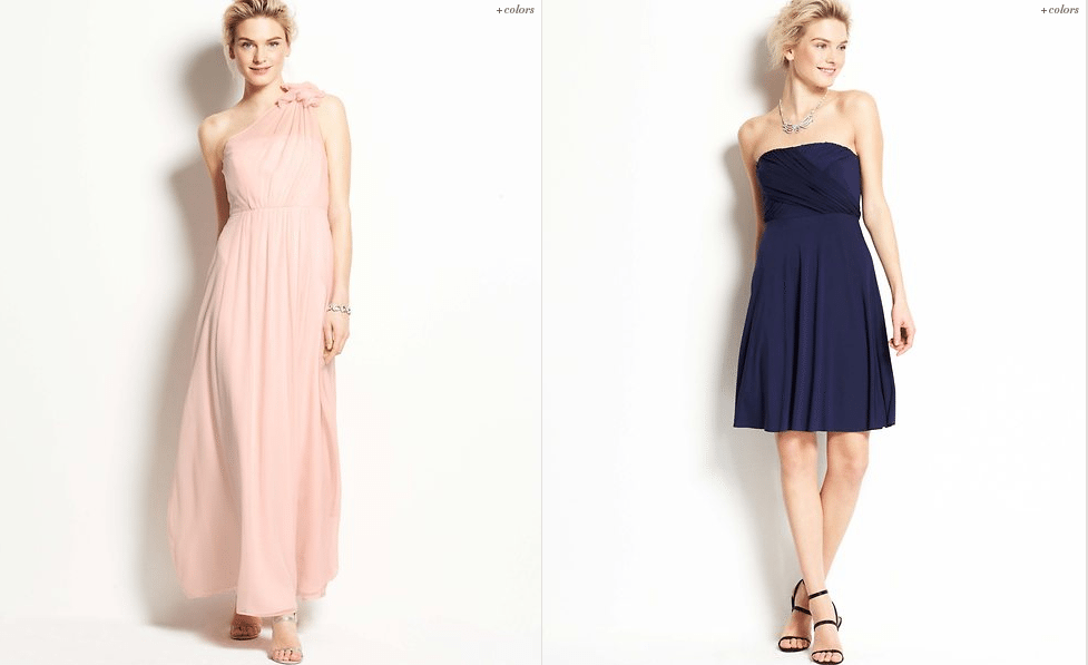 Fun vow renewal dresses from ann taylor for Dresses for renewal of wedding vows