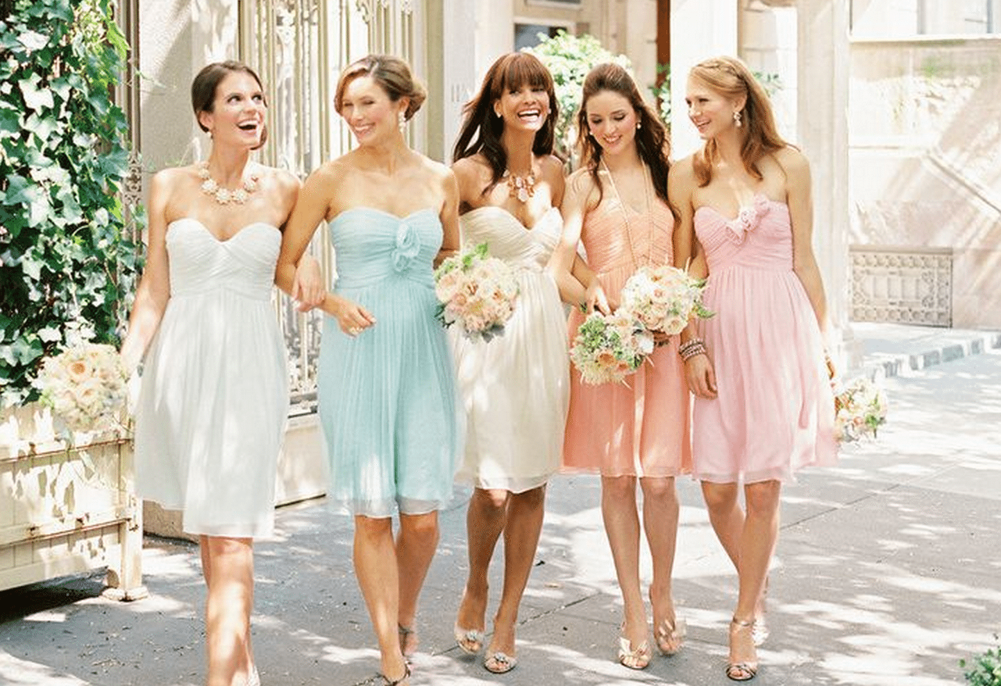 Ideas For Bridesmaid And Groomsmen Attire At A Second Wedding