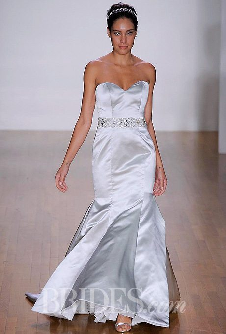 Wedding Gift Ideas Second Time Around : ... gown that has the classic bridal lines with a pop of silver added in