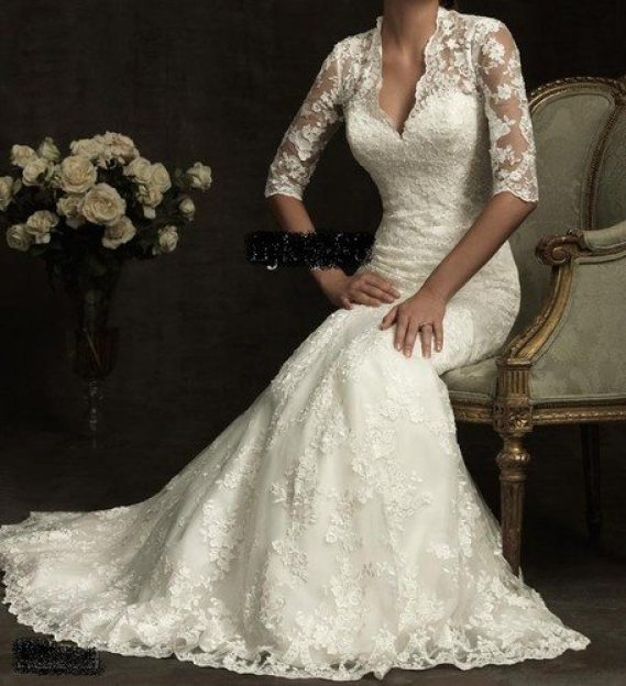 older bride wedding dress