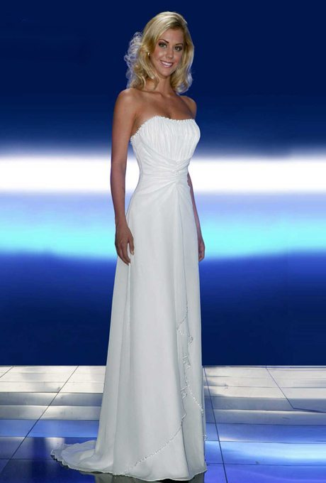 Casual wedding gowns with simple style for your second for Simple 2nd wedding dresses
