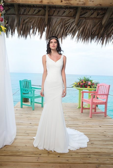 Casual Wedding Gowns With Simple Style for your Second Walk Down the ...