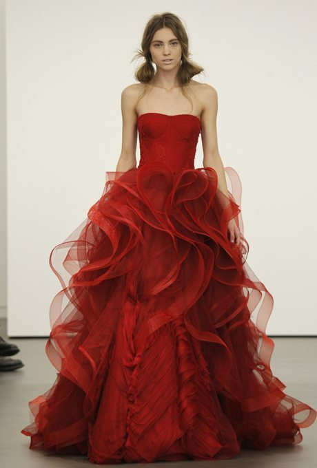 Red Bridal Ball Gowns Just In Time For Christmas