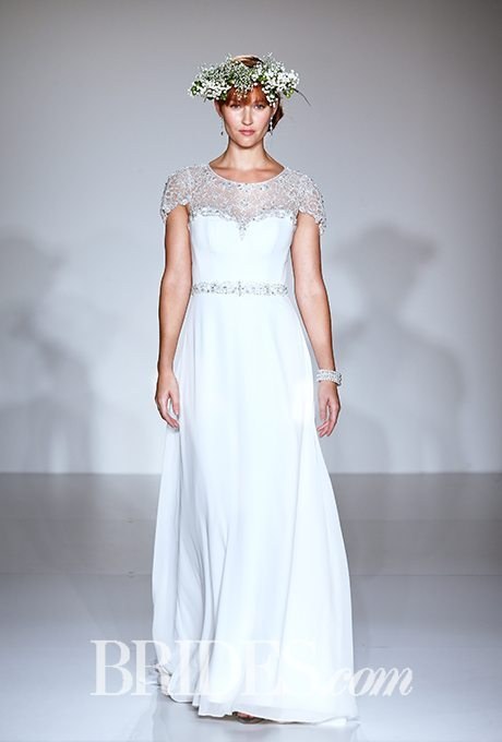 Sophisticated Wedding Gowns With Jewel Encrusted Necklines