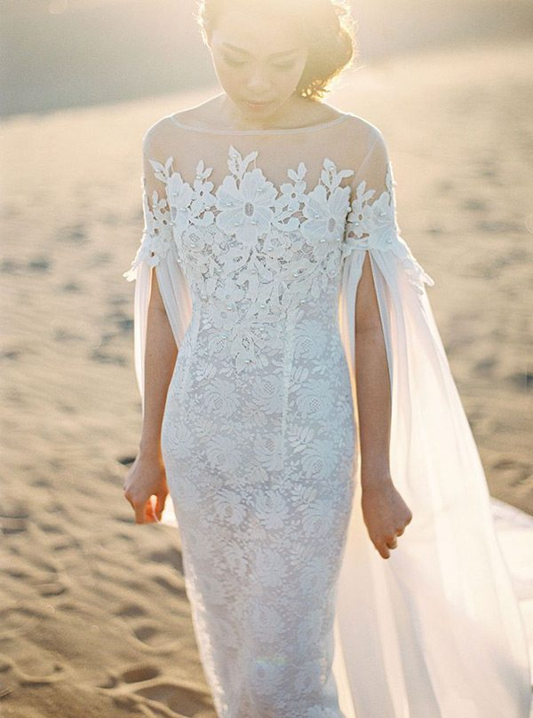 10 Stunning Wedding Gowns With Capes