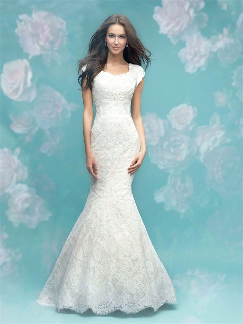 12 Modest Wedding Dresses for the Over-40 Bride