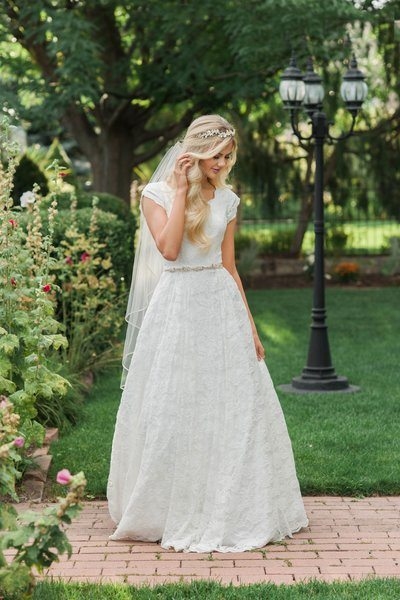 12 Modest Wedding Dresses For The Over 40 Bride