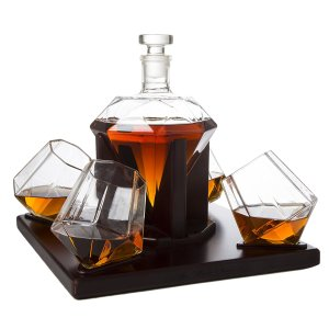 The Wine Savant Diamond Decanter Set