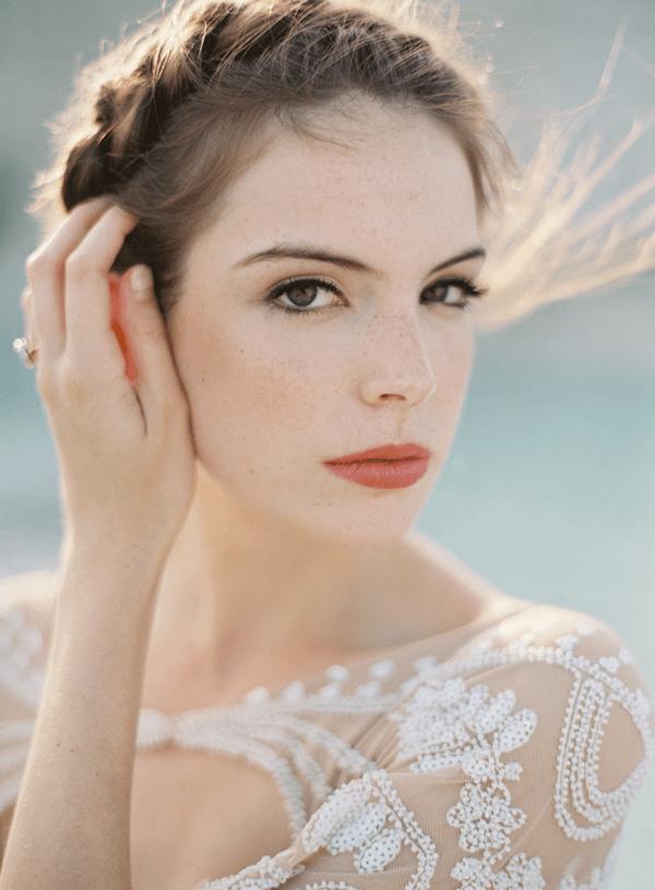 Natural Dramatic wedding makeup