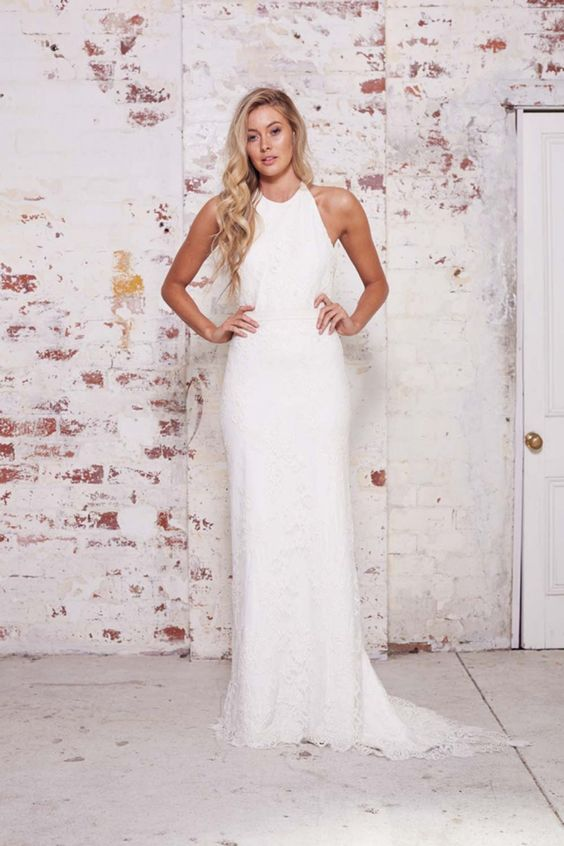 Simple Halter Wedding Gowns For Your Second Time Around Part 2