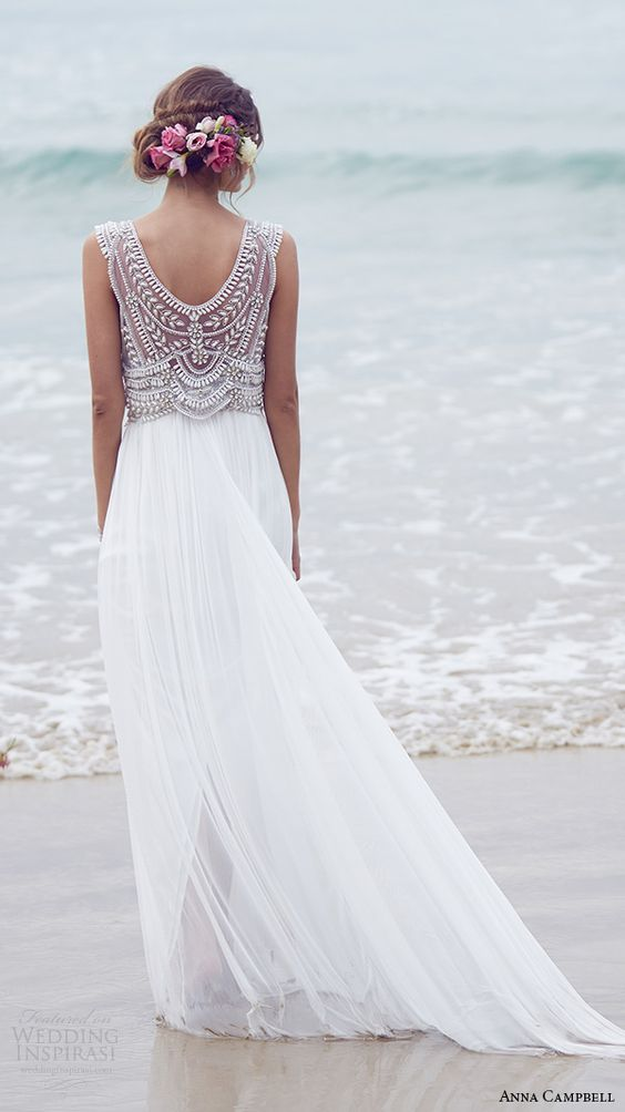 10 More Beach Wedding Gowns For the Second Time Around