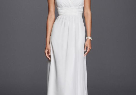 Simple Halter Wedding Gowns For Your Second Time Around