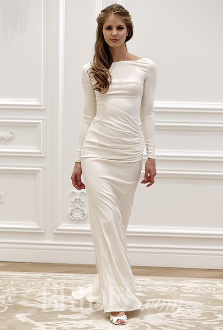 10 wedding gowns perfect for women over 50 for Simple form fitting wedding dresses