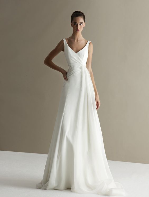 Simple White Wedding Gowns For Your Vow Renewal