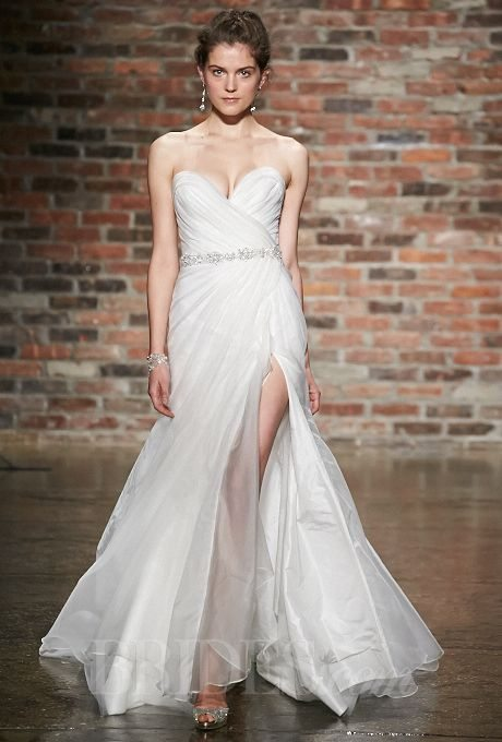 Wedding gowns with slits