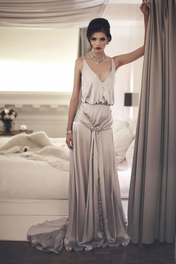 10 Gatsby Style Wedding Gowns To Theme Your Wedding Around Wedding
