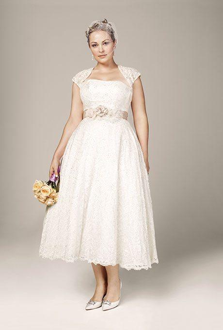 Classic, A-line Wedding Gowns For Plus-Size Brides