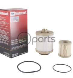 fuel filter kit for the 2003 2007 ford powerstroke 6 0l diesel engine contains both the top mounted and frame mounted fuel filters  [ 1000 x 800 Pixel ]