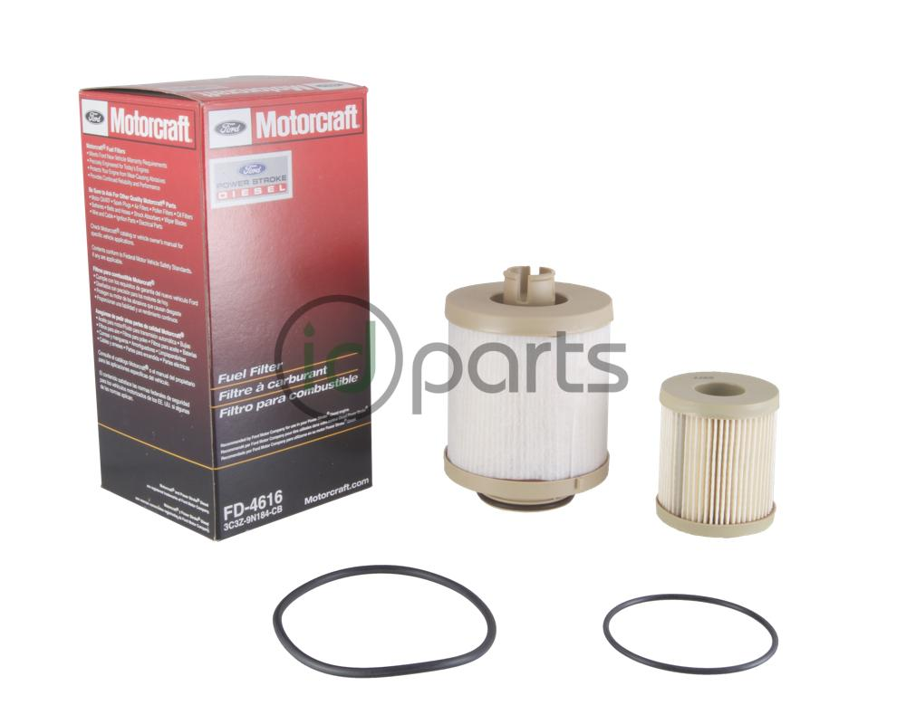 hight resolution of fuel filter kit for the 2003 2007 ford powerstroke 6 0l diesel engine contains both the top mounted and frame mounted fuel filters